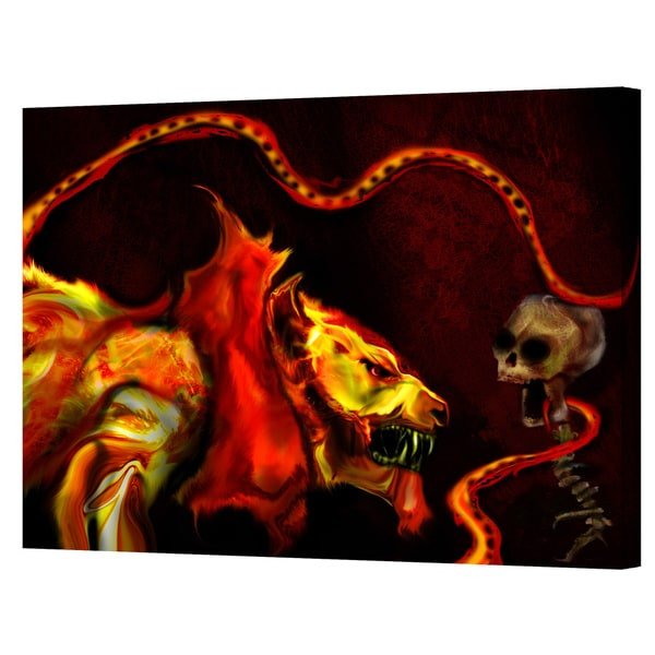 Pyro Painter 'Shadow of the Beast' Wrapped Canvas