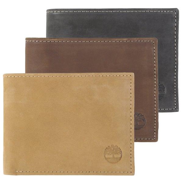 Timberland Men's Bi-fold Passcase Wallet