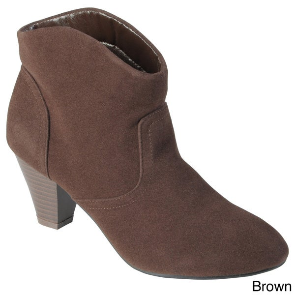 Journee Collection Women's 'Pippa' Topstiched High Heel Booties