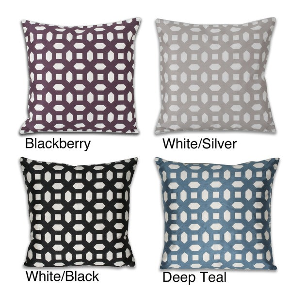 Mosaic Laser Cut Feather Filled 20-inch Throw Pillow