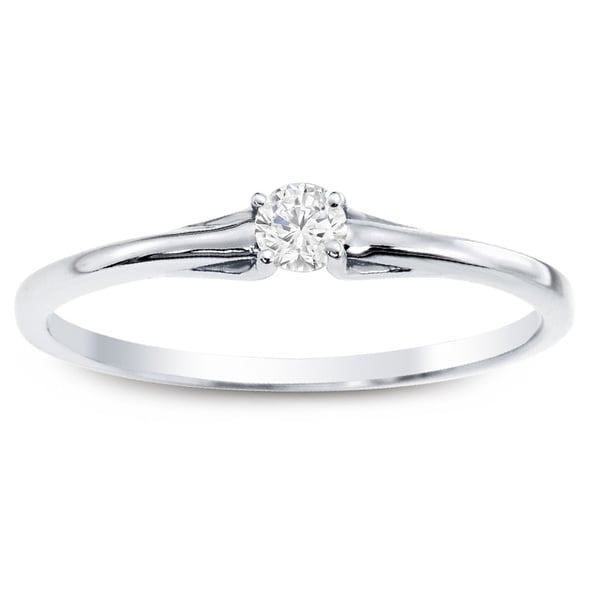 10k Gold 1/10ct TDW Auriya Diamond Ring with Gift Box