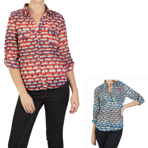 T by Hailey Jeans Co. Women's Lightweight Button-up Top