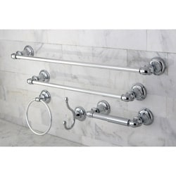 Charming Provence Chrome 5 Piece Bathroom Accessory Set