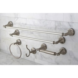 Naples Satin Nickel 5-piece Bathroom Accessory Set
