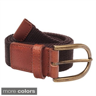 American Apparel Unisex Spun Poly-Web Leather Belt