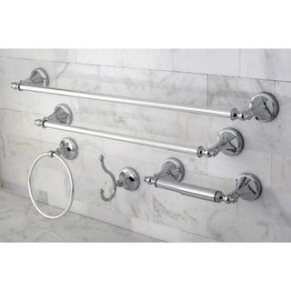 Naples Chrome 5-piece Bathroom Accessory Set - Silver