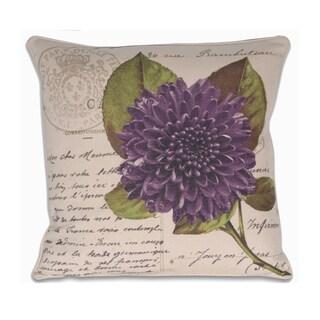 French Purple Postcard Pillow