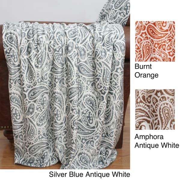 Echo Paisley Microplush Throw