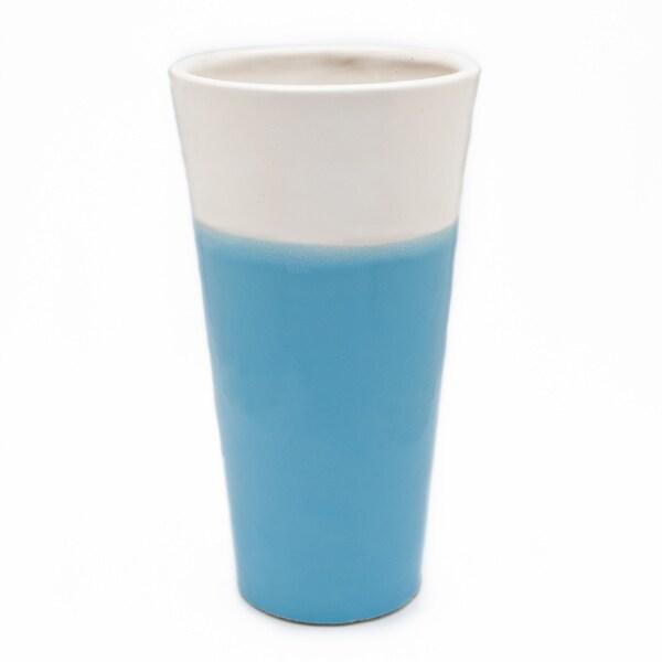 Chateau Designs White/ Blue Vase