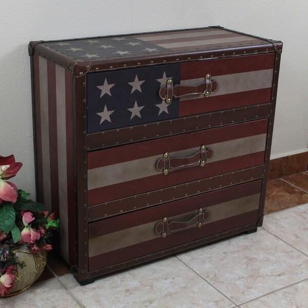 International Caravan Americana 'Stars and Stripes' 3 Drawer Chest