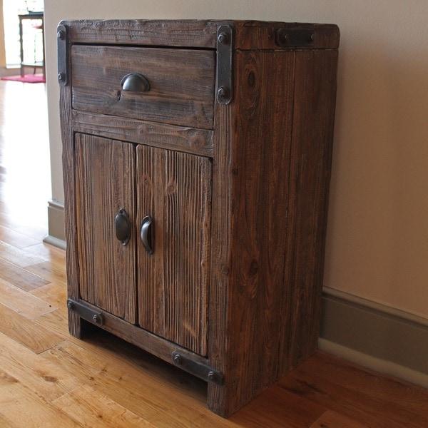 International Caravan Rustic Forge Two Door/ One Drawer Cabinet