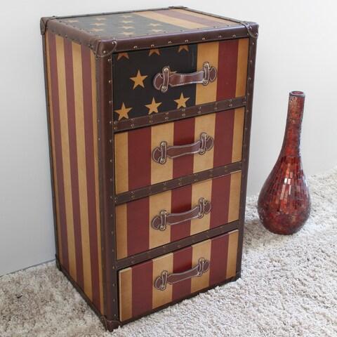 International Caravan Americana 'Stars and Stripes' 4-Drawer Chest