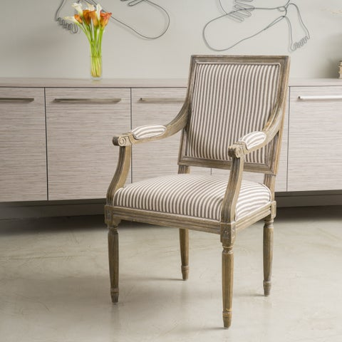 Madison Fabric Arm Chair by Christopher Knight Home