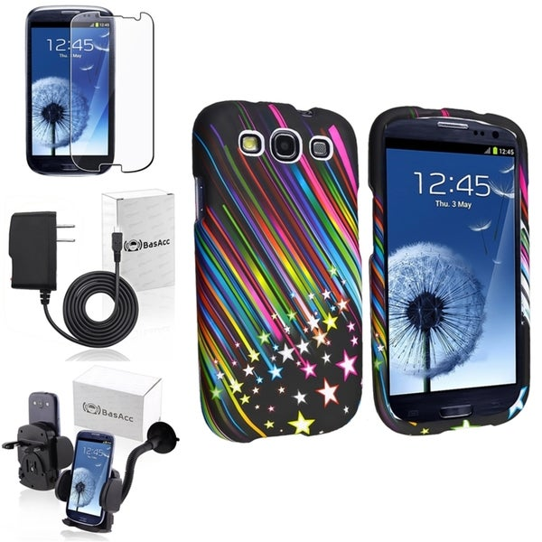 INSTEN Rainbow Star Case Cover/ Protector/ Mount/ Charger for Samsung Galaxy S III/ S3