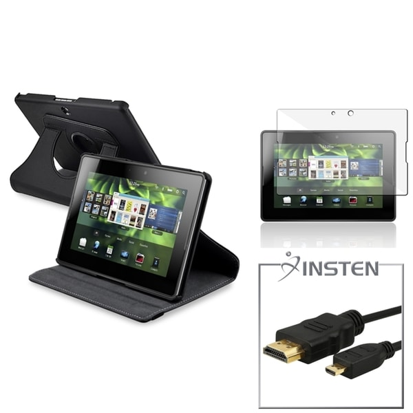 INSTEN Phone Case Cover/ Screen Protector/ HDMI Cable for BlackBerry PlayBook