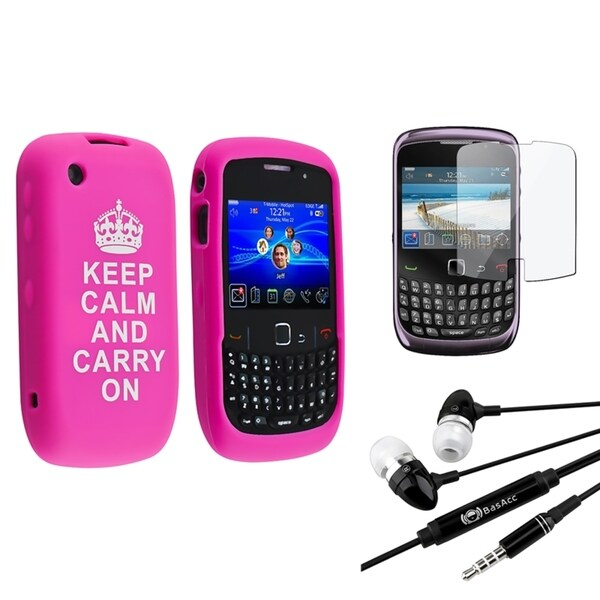 BasAcc Case/ Screen Protector/ Headset for BlackBerry Curve 9300