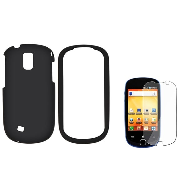 BasAcc Black Case/ LCD Protector for Samsung Gravity Smart T589