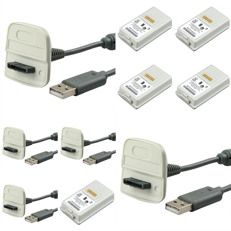 INSTEN Charger Cable/ Battery for Microsoft xBox 360 Controller
