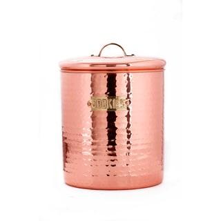 Old Dutch Decor Copper Hammered Cookie Jar
