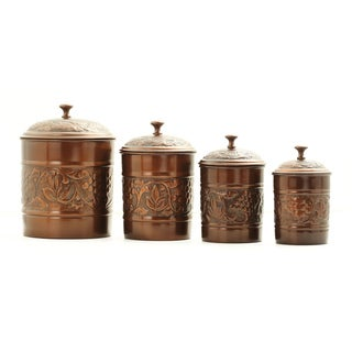 Old Dutch U0027Heritageu0027 Antique Copper 4 Piece Canister Set