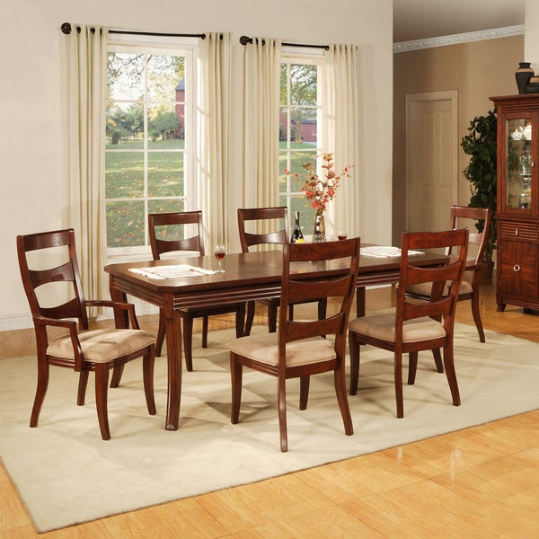 'Solina' Cherry Dining Arm Chairs (Set of 2)
