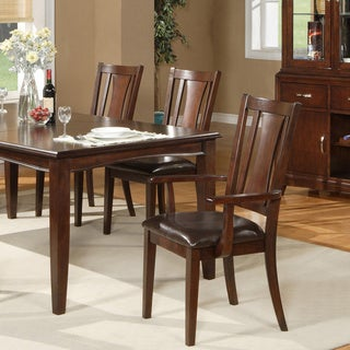 Alpine Furniture Brampton Cappuccino Arm Chairs (Set of 2)