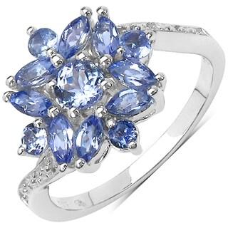 Malaika Sterling Silver 1 1/10ct TGW Tanzanite Ring