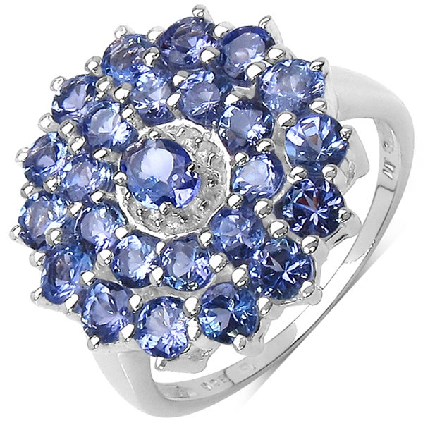 Malaika Sterling Silver 2 1/2ct TGW Tanzanite Ring