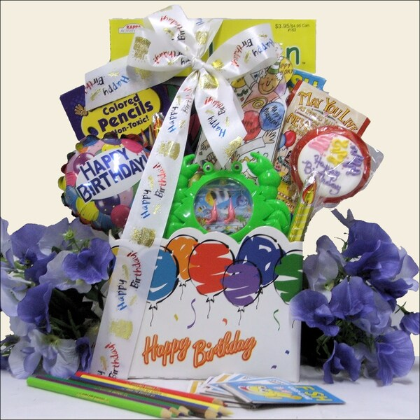 Great Arrivals Happy Birthday Wishes: Kid's Gift Basket Ages 6 to 8
