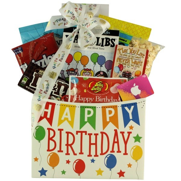Shop Great Arrivals ITunes Teen Kids Birthday Gift Basket