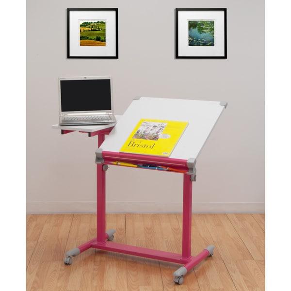Studio Designs Europa Pink/White Split Top Drafting Table