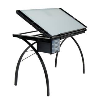 Studio Designs Black/White Futura Drafting Table