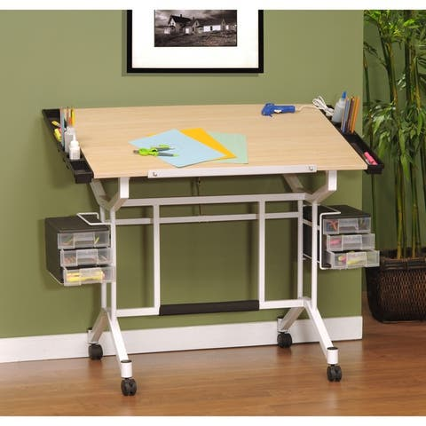 Studio Designs Maple/ White Pro Drafting and Craft Station Table