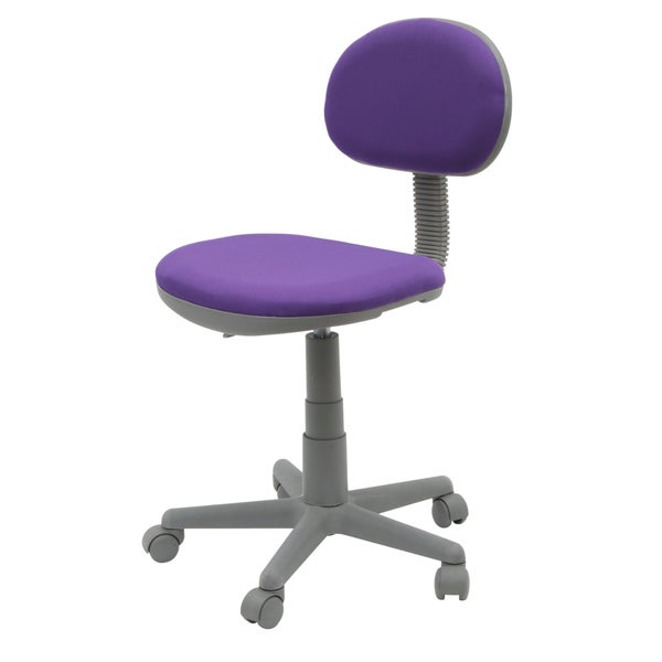 Calico Designs Deluxe Purple/ Grey Task Chair