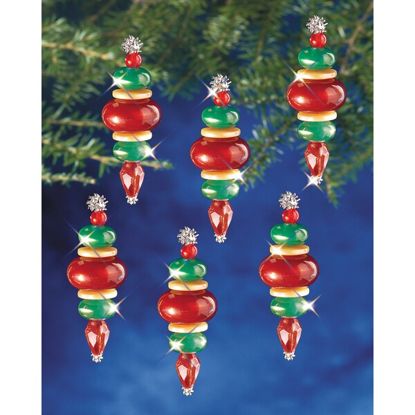 "Holiday Beaded Ornament Kit-Victorian Baubles 2-1/4""X3/4"" Makes 12"