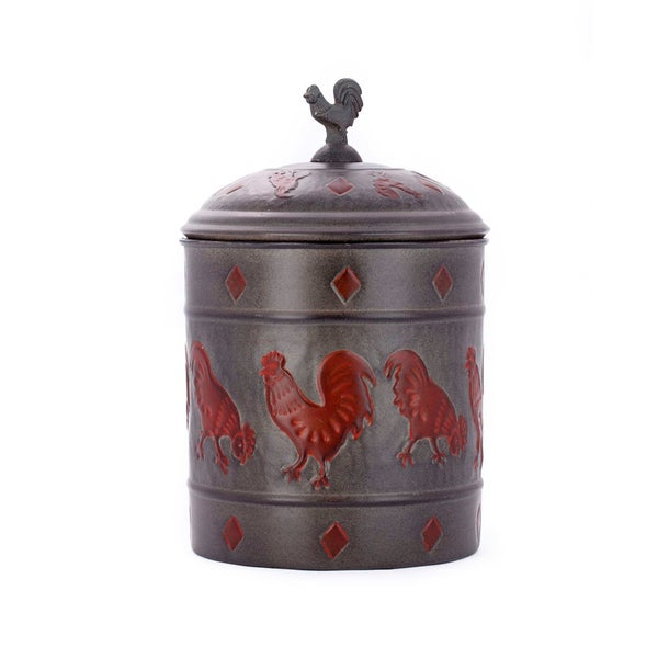 Old Dutch Rooster Fresh Seal Cover 4 Quart Cookie Jar