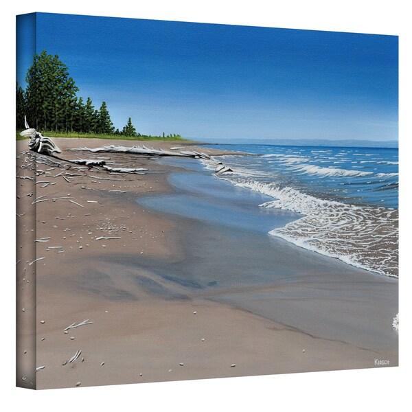 Ken Kirsch 'Driftwood Beach' Wrapped Canvas