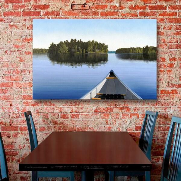 Ken Kirsch 'Paddle Muskoka' Wrapped Canvas