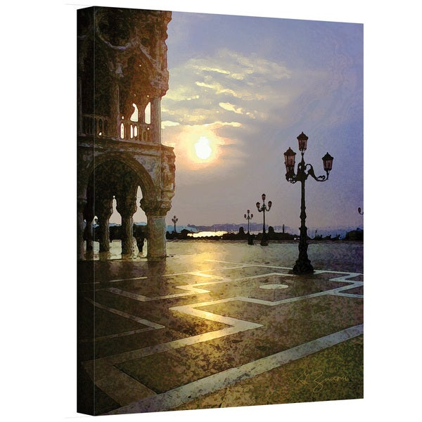 George Zucconi 'Venice Piazza 2' Wrapped Canvas
