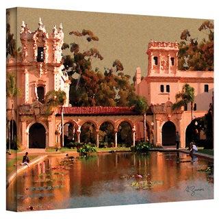 George Zucconi 'Lily Pond Balboa Park San Diego California' Wrapped Canvas Art