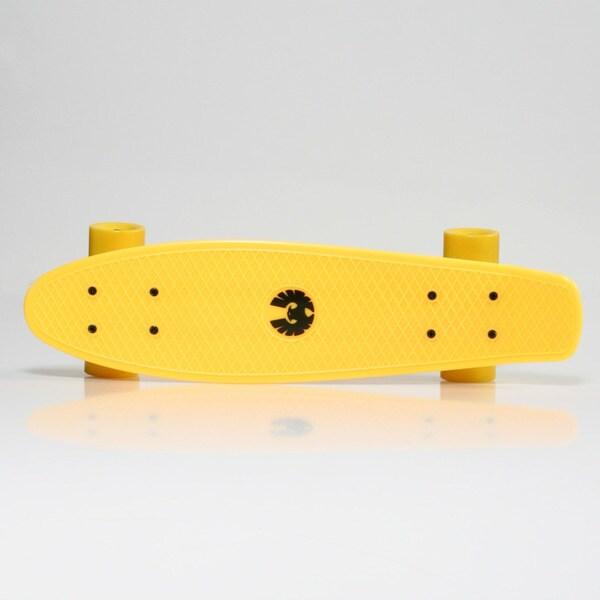Rekon Banana Board Cruiser Complete Skateboard in Neon Yellow (22.5 x 6)