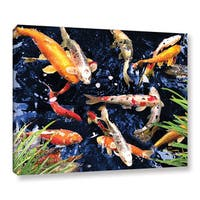 George Zucconi 'Koi' Wrapped Canvas