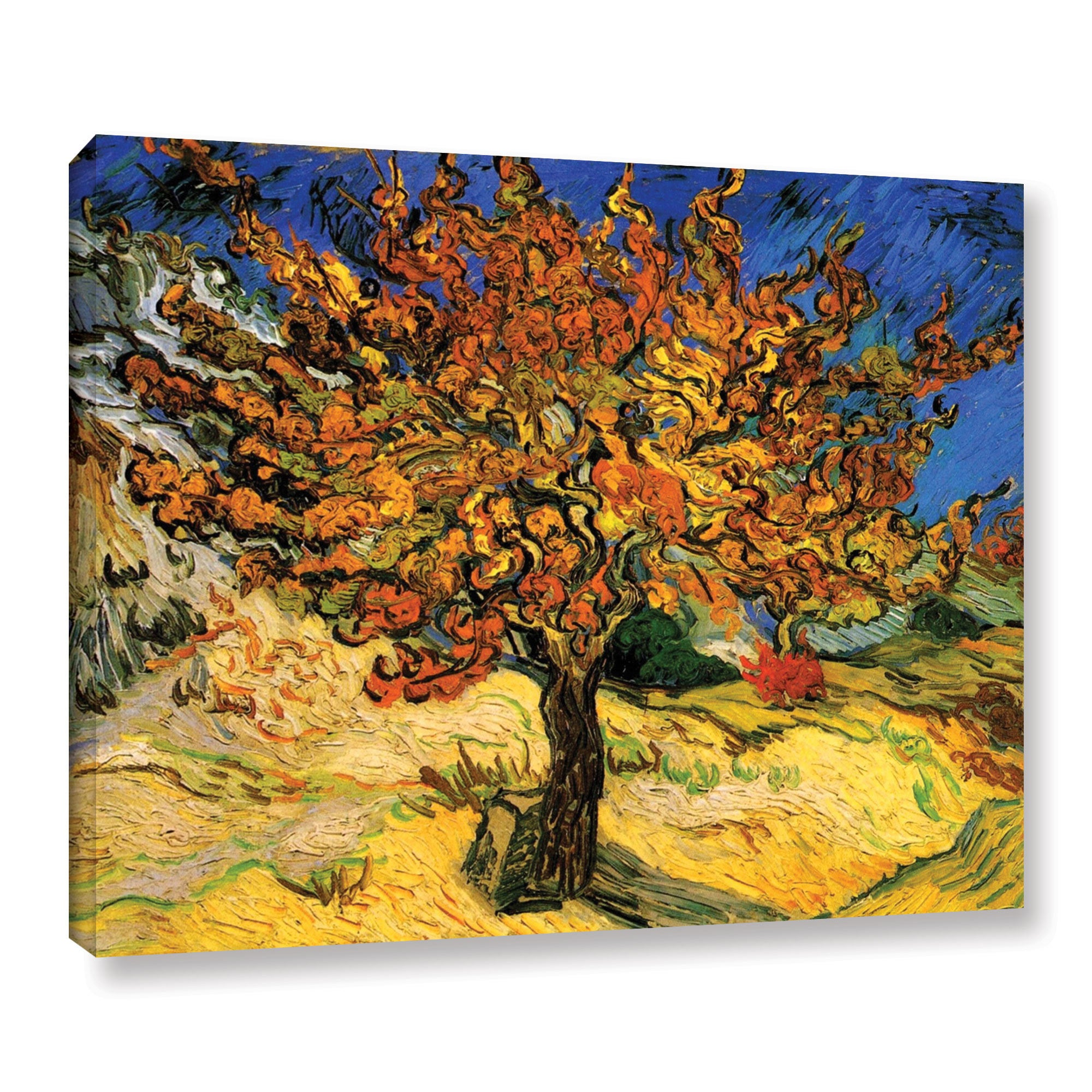 Vincent Van Gogh The Mulberry Tree Wrapped Canvas Small Ebay