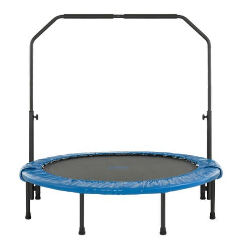 Upper Bounce 48-inch Mini Indoor/ Outdoor Foldable Trampoline with Adjustable Handrail