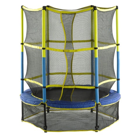 Upper Bounce 55-inch Kid-Friendly Trampoline & Enclosure Set with 'Easy Assemble Feature'