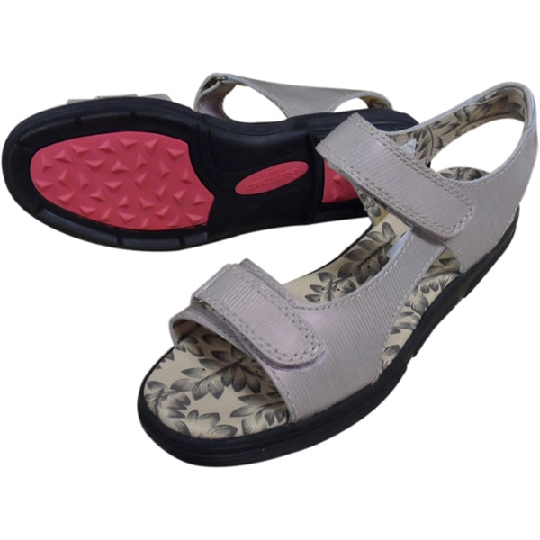 Golfstream Ladies Leather Golf Sandals with Rubber Outsoles