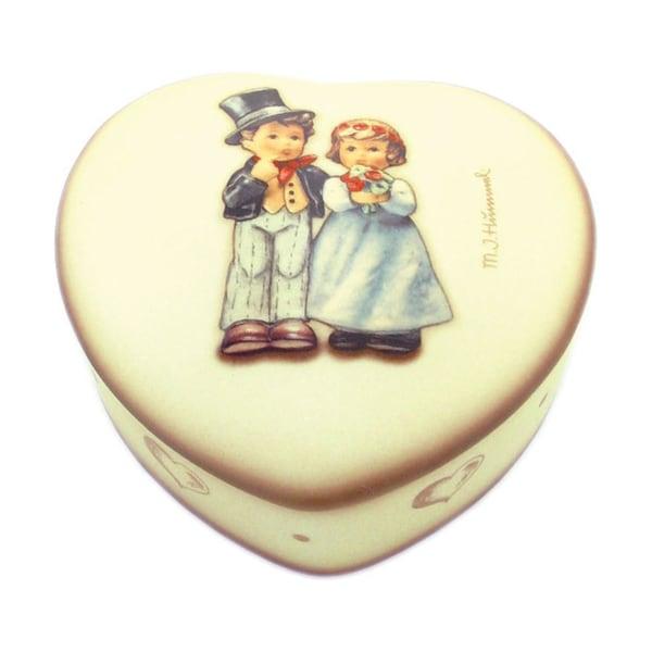 M I Hummel 'Dearly Beloved' Porcelain Heart Box