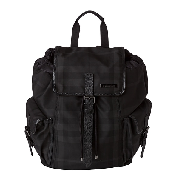 Burberry 'Penkill' Small Black Beat Check Nylon Backpack