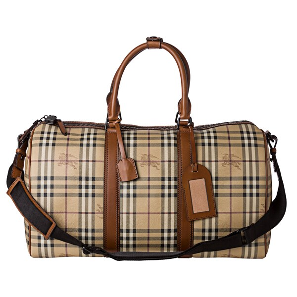 Burberry Haymarket Check Holdall Duffle Bag