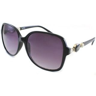 XOXO Women's 'Virtuo' Black Rhinestone Sunglasses